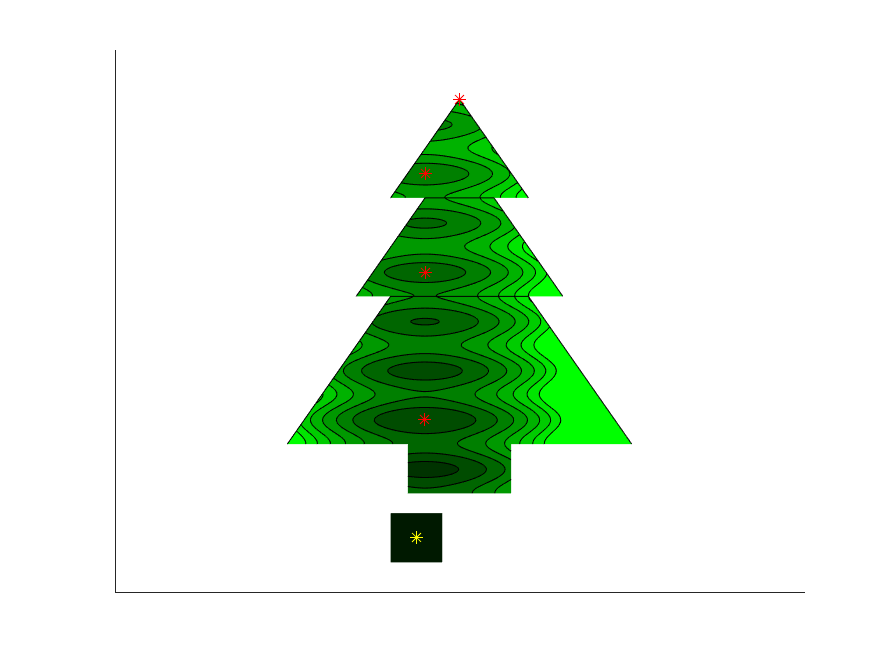 Optimized Christmas tree with a present
