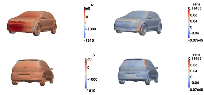 image showing results on a VW polo vehicle